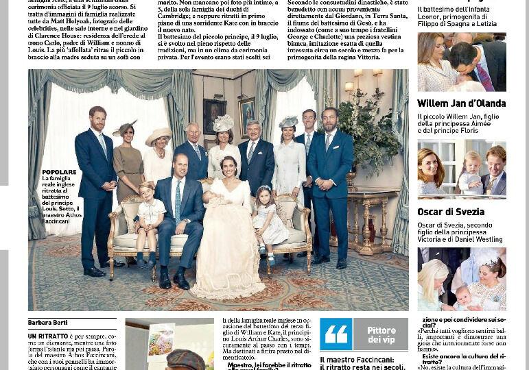 17-7-18 IL GIORNO- La famiglia reale, un ritratto è per sempre. Fotografia d'autore nell'era degli scatti usa e getta Ma un dipinto vale di più