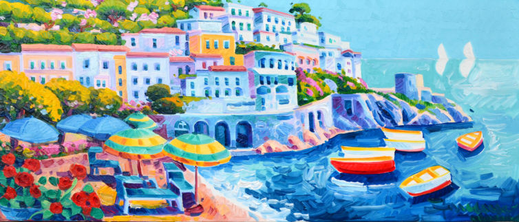 Amalfi e la barca rossa e noi