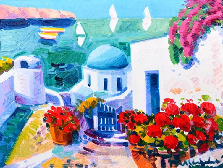 Pensieri di luce a Santorini