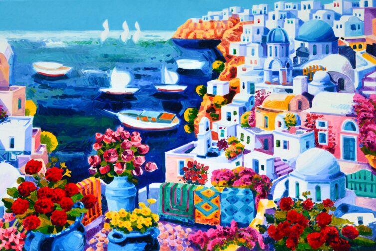 Tappeti a Santorini