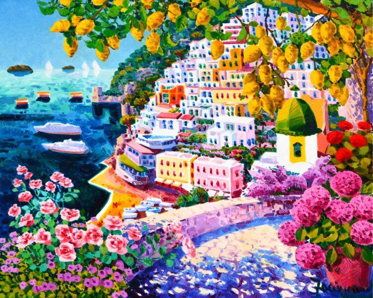 Sogno di fiori e luce a Positano