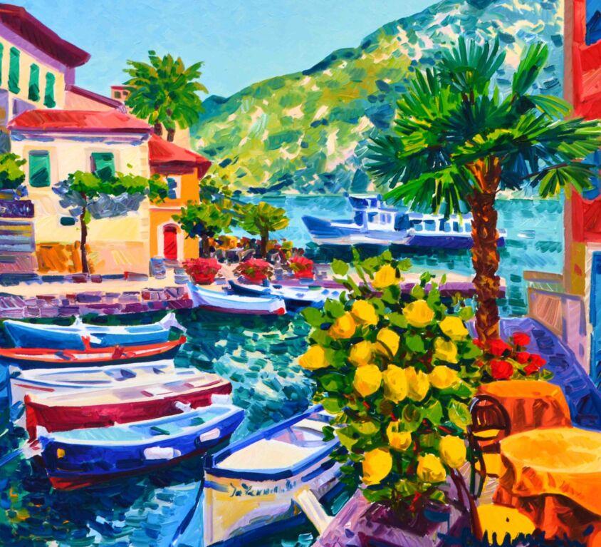 Le barche e la pianta di limoni