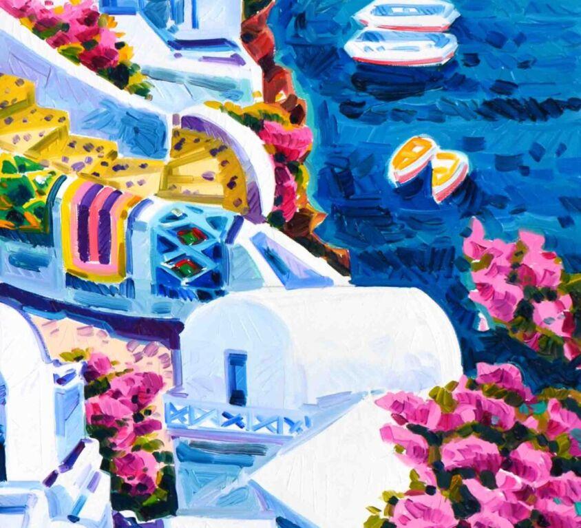 Due giare nella luce di Santorini